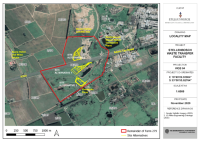 PROPOSED WASTE TRANSFER FACILITY ON A PORTION OF FARM 279/RE,  STELLENBOSCH