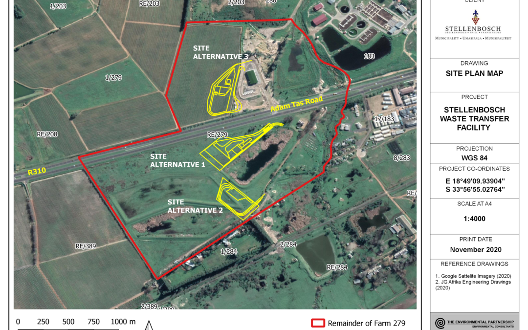 NOTIFICATION OF ENVIRONMENTAL AUTHORISATION – ENVIRONMENTAL IMPACT ASSESSMENT FOR THE PROPOSED WASTE TRANSFER FACILITY ON A PORTION OF THE REMAINDER OF FARM NO. 279, STELLENBOSCH. DEA&DP REF. NO. 16/3/3/1/B4/45/1063/20