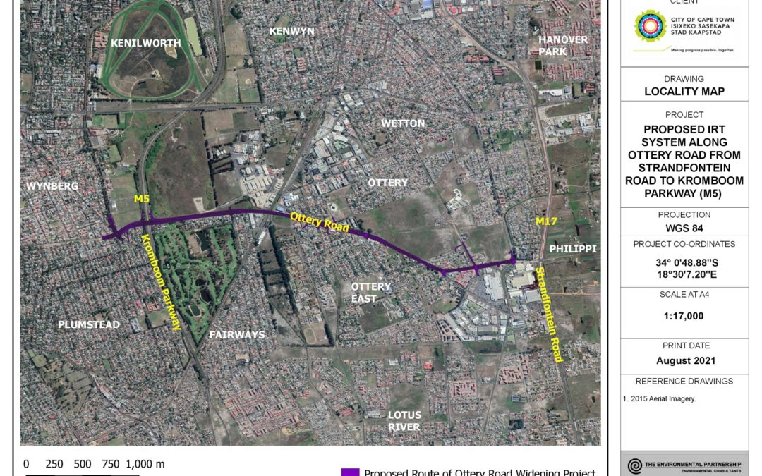 THE PROPOSED INTEGRATED RAPID TRANSPORT (IRT) SYSTEM ALONG OTTERY ROAD FROM STRANDFONTEIN ROAD TO KROMBOOM PARKWAY (M5)